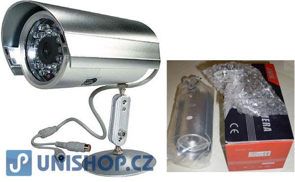 Kamera color CCD JK-512, objektiv 4mm,IR 100m; přiložen adaptér