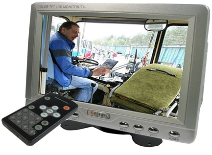 """LCD color monitor pro kamery; TFT 7"""" CRC-701,2x video IN+audio"""