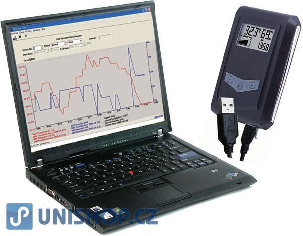 Záznam teploty a vlhkosti - datalogger DS100