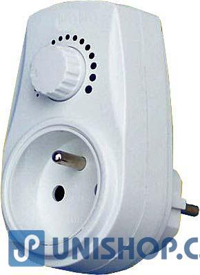 Zásuvkový stmívač 300W - regulátor výkonu