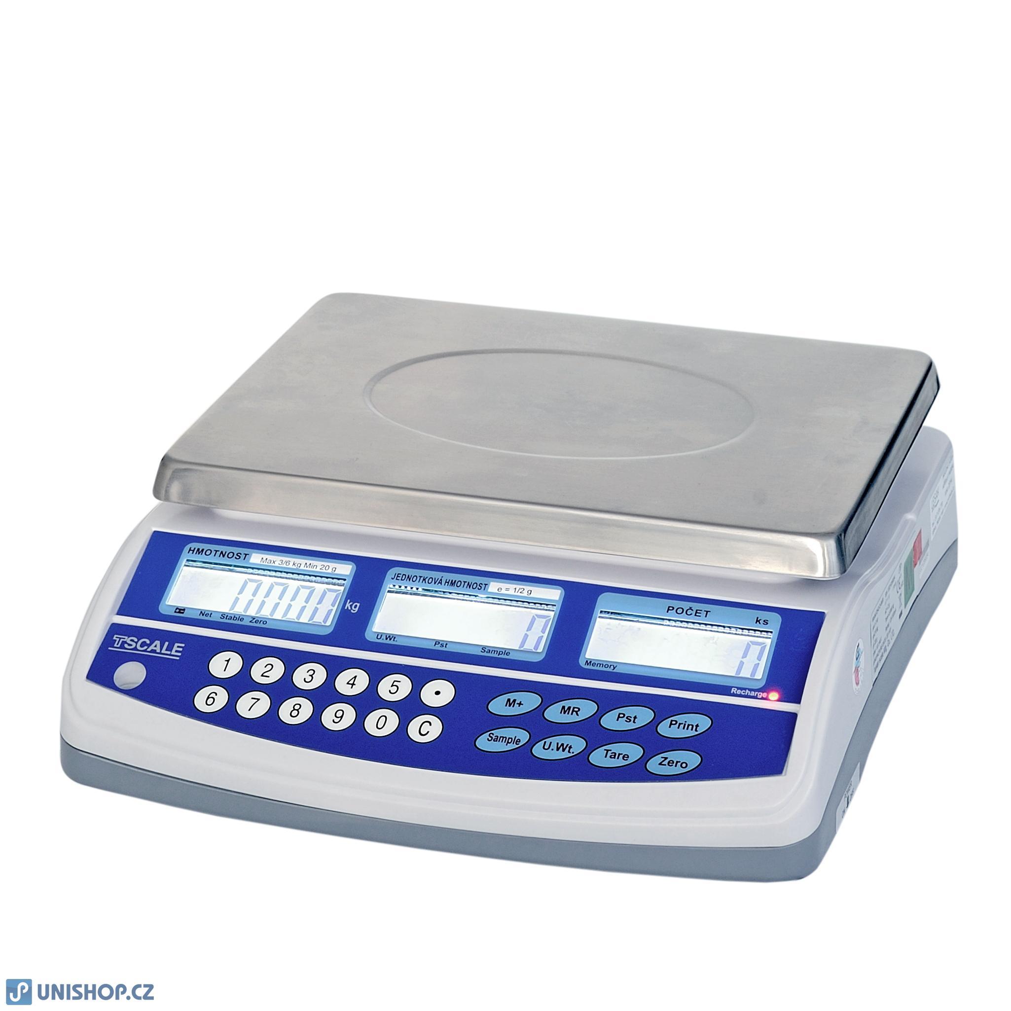 Přesná počítací váha TSQHD 30kg/0,5g, s připojením ex. plošiny