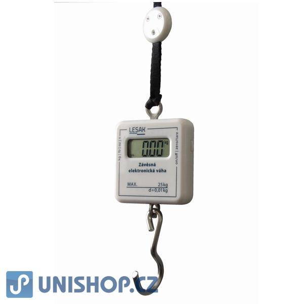 Závěsná elektronická váha do 25kg, malá váha, ZEV25 na zavazadla