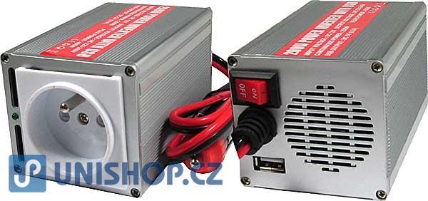 Měnič 12V/230V+USB 200W,modifikovaná sinus,CARSPA
