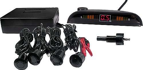 parkovací alarm se 4 senzory a LED displejem (couvací asistent)