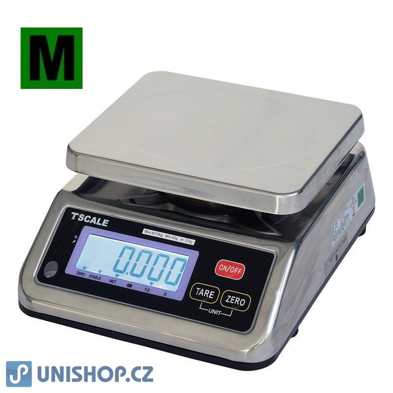 Váha gastro nerezová voděodolná do 3/6kg, 1/2g, TSCALE S29B