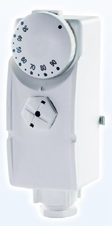 Fotografie Příložný termostat SALUS AT 10 s rozsahem řízení 30-90 st.C