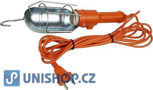 Svítidlo přenosné transportka 230V/60W,přívod 5m,oranžové