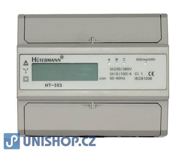 Elektroměr 3F na DIN lištu třífázový HT-353D digitální