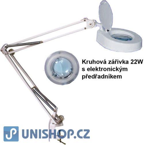 Stolní lupa se zářivkou,5 dioptrií,se svorkou