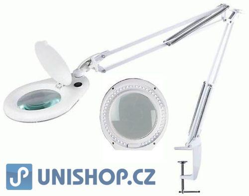 Stolní lupa LED ZD-129ALED,5 dioptrií, uchycení svorkou