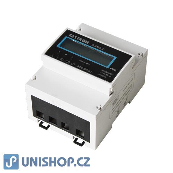 Elektroměr 3F na DIN lištu třífázový SDN630D digitální