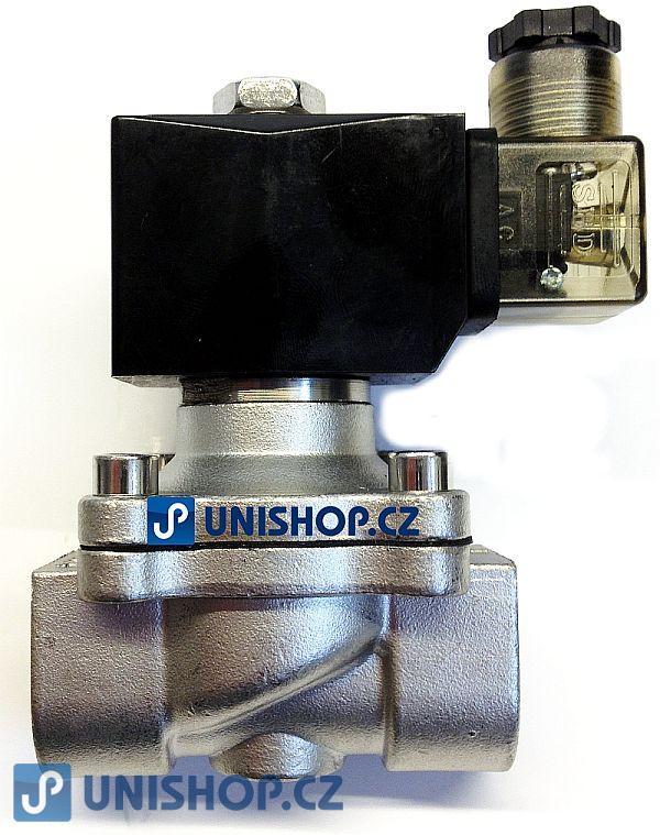 """Ventil MP-W200-20SV, NC, 3/4"""", 12V AC, dvoucestný nerezový, (0-10bar)"""