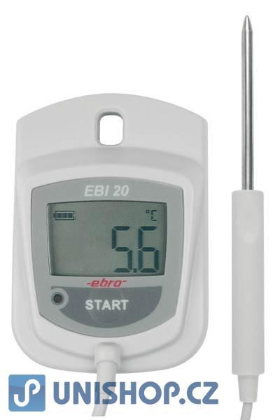 EBI 20-TE1_2 Záznamník teploty s externím čidlem a displejem EBRO